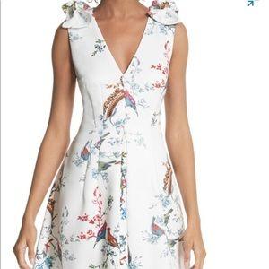 TED BAKER LONDON OPULENT FAUNA BIRD DRESS